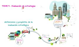 Definiciones y propósitos de la evaluación estrategia
