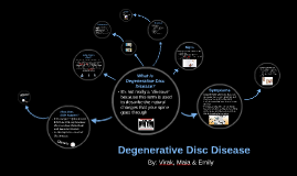 Degenerative Disc Disorder