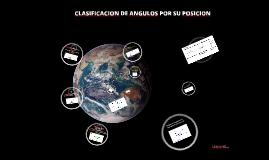 Clasificación de ángulos por su posición