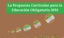 Copy of La Propuesta Curricular para la Educación Obligatoria 2016