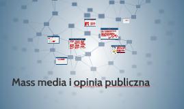 KL 8  WOS V/7 Mass media i opinia publiczna