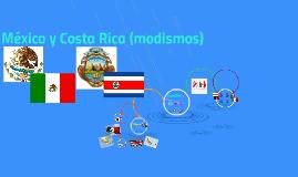 México y Costa Rica (modismos)