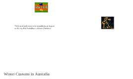 Winter Customs in Australia By Connor A