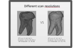 Scan resolutions