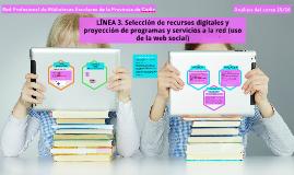 Análisis del funcionamiento de la Línea 3. Red Profesional de BBEE de la Provincia de Cádiz