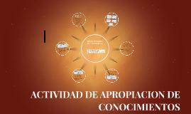 ACTIVIDAD DE APORPIACION DE CONOCIMIENTOS