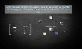 Autoevaluación institucional en los procesos de gestión de i