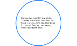 Sara and Jen want to buy a bike. The bike at Walmart costs $