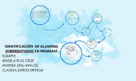 IDENTIFICACION DE ALUMNOS SOBREDOTADOS EN PRIMARIA