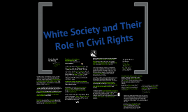Mainstream white society and their role in civil rights