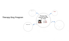 Dog Therapy Program Outline