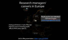 Round table 2 – Research manager  careers