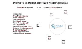 PROYECTO DE MEJORA CONTINUA Y COMPETITIVIDAD