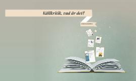 Copy of Källkritik