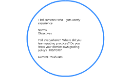 Find someone who - gum candy experience