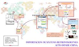 IMPORTACION DE SISTEMA RETROVISOR PARA AUTO DESDE CHINA.