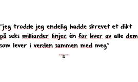 Geir Gulliksen som lyriker