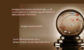 VEPRIMI I PENTADEKAPEPTIDIT BPC 157 NË ANASTOMOZAT E ZORRËVE