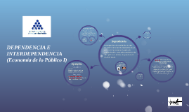 Copy of DEPENDENCIA E INTERDEPENDENCIA