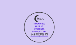 2016 Q&A DISCUSSION MSA