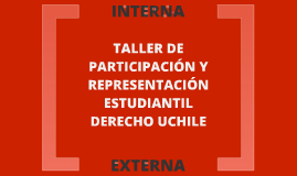Taller Participación y Representación Estudiantil Derecho UChile