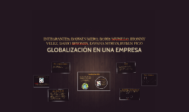 Copy of GLOBALIZACION EN UNA EMPRESA