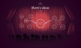 Marx's ideas
