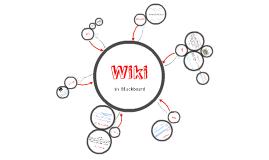 Copy of Wiki in Blackboard