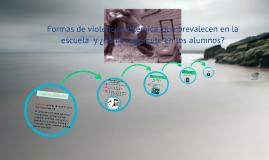 Formas de violencia sistémica, que prevalecen en la escuela