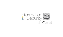 Information Security of iCloud