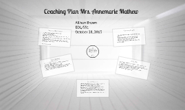 Coaching Plan Mrs. Annemarie Mathew