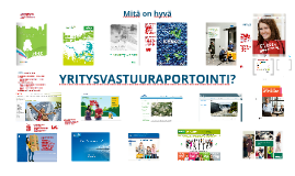 Yritysvastuuraportointi, koulutus SYKLIssä 27.10.2015