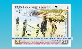 LECON 5: LA FRANCE DES ANNEES 30: DE LA CRISE AU FRONT POPULAIRE
