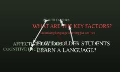 Maximising language learning for seniors