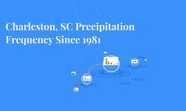 Charleston, SC Precipitation Frequency Since 1981