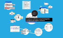 Analytical methods in psyhcolinguistic metaphor perception r