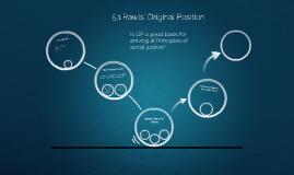 5.1 Rawls' Original Position