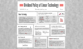 dividend policy at linear technologies case solution Case analysis, dividend policy at fpl group inc (a) harvard case study solution and hbr and hbs case analysis dividend policy at linear technology.