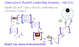 Chancellor's Student Leadership Academy - Fall 2016