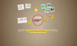VISION SISTEMATICA DE LA SUSTENTABILIDAD