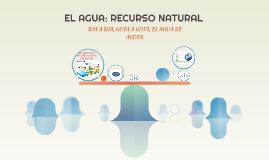 EL AGUA: RECURSO NATURAL