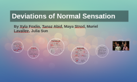 Deviations of Normal Sensation
