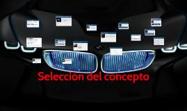 Copy of Selección del concepto