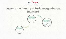 Aspecte inedite cu privire la reorganizarea judiciară