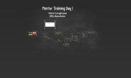 Mentor Training Day 1