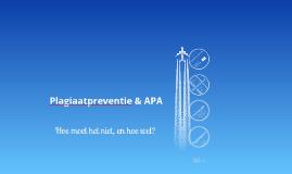 Plagiaatpreventie & APA