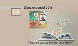 Signalenbundel 2016