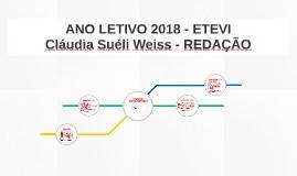 ANO LETIVO 2018 - ETEVI