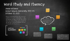 Copy of Copy of Word Study and Fluency