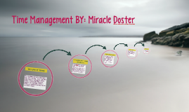 Time Management BY: Miracle Doster